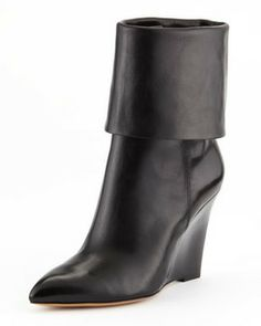 Michael Kors  Paycen Fold-Over Wedge Boot on shopstyle.com