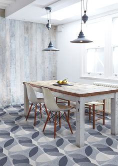'Leaf' grey granito (as seen in The Sunday Times - STYLE) – Walls and Floors by Lindsey Lang
