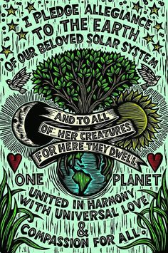 I pledge allegiance to the Earth <3