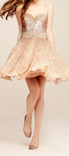 Blush sparkle prom dress