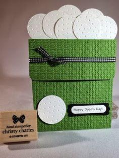 Crafty Masterpieces: Bucket-o-golf balls Pocket Card!
