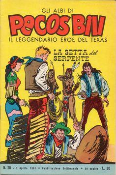 LA SETTA DEL SERPENTE - Albi di Pecos Bill n.° 28 - 2 aprile 1961