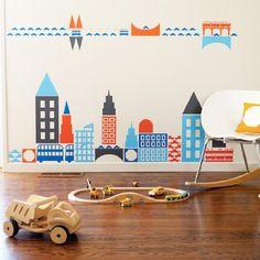 Amazon.com: Boodalee City Wall Stickers: Baby