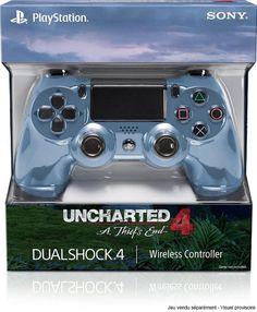 Manette DualShock 4 Gris Bleuté Uncharted 4 - PS4 - Acheter vendre sur Référence Gaming