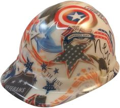 a9386fcceee280 GLOW IN THE DARK American Patriot Hydro Dipped Hard Hat & Ratchet Suspension