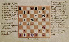 Chess analisys by Marcel Duchamp