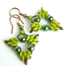 TriDangle Earrings by BeadsForever, via Flickr
