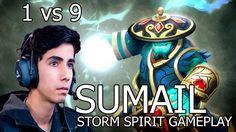 Sumail - Storm Spirit геймплей (1 vs 9), 8000 mmr - Dota 2