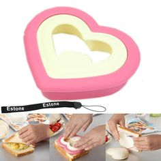 Estone® DIY Lovely Bento Food Cutter Heart Shape Sandwich Maker Cake Cookies Bread Mould -- Unbelievable offers are coming! : Baking Accessories
