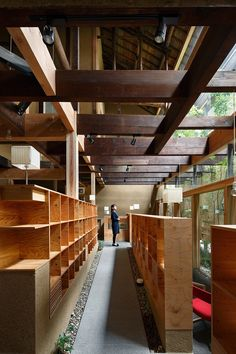 Interior in wood Japanese Modern, Japanese Interior, Architecture Details, Interior Architecture, Interior Design, Le Ranch, Layout, Plan Design, Office Interiors