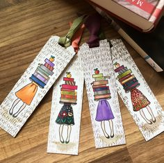 Lesezeichen Stampin up<br> Bookmarks For Books, Creative Bookmarks, Cute Bookmarks, Paper Bookmarks, Bookmark Craft, Watercolor Bookmarks, Watercolor Cards, Ribbon Bookmarks, Homemade Bookmarks