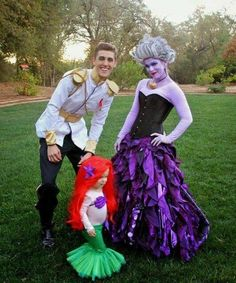 I am in love with this!  little mermaid family costume! Next year for sure!!!!