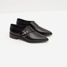 FLATS WITH BUCKLE from Zara