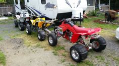 All the bikes are ready for the dunes