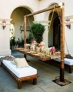 Muebles para exteriores - Mesa suspendida... - Angel Encantador - Google+