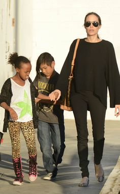Shopping With Pax and Zahara from Angelina Jolie's Double Mastectomy: Inside Her Road to Recovery   E! Online