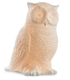 Adorable and classy white ceramic Great Horned White Owl lamp. Owl Lamp, Global Home, Great Horned Owl, Ceramic Owl, Guest Room Office, Little Owl, Beautiful Interior Design, Felt Fabric, Steel Metal
