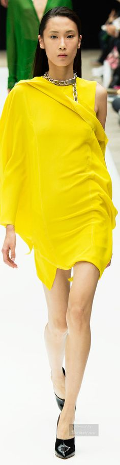 Acne Studios.Spring bright yellow dress 2015. #women #fashion outfit #clothing style apparel @roressclothes closet ideas