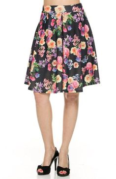 High Waisted Flared A-Line Skirt - BodiLove | 30% Off First Order  - 1