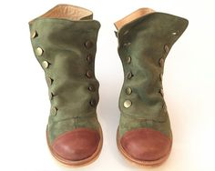 Mamba Grass Green leather boots Handmade by Quiero by QuieroJune Green Leather, Leather Boots, Faerie Costume, Bootie Boots, Shoe Boots, Walking Boots, Shoe Closet, Sock Shoes, Leather Working
