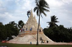Turkish Airlines is sponsoring the castle in Florida that requires about 1,800 tons of san...