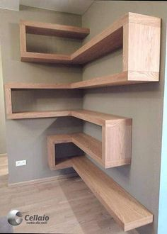 Shelves Ideas Plank shelves are so simple yet very efficient spacewise, especially in a tight office that may double as a guest room The minimal hardware supporting these gives them the look of floating shelves This wall Read more - diy-home-deco Diy Furniture, Furniture Design, Furniture Plans, System Furniture, Furniture Vanity, Furniture Cleaning, Modular Furniture, Furniture Showroom, Steel Furniture