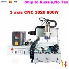 978.00$ Watch here - ali0cg.worldwells... - (Russain no tax!) CNC 3020 3axis 800w water cooling engraving machine Mach3 carving machine for wood metal cutting machine 978.00$