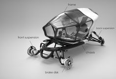 Velomobile with pheumatic shell v 2.0 on Behance