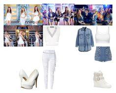 Girls' Generation-TTS (소녀시대-태티서) - Holler by roselinaexo-sugaa on Polyvore featuring polyvore beauty Topshop H&M BCBGMAXAZRIA Pierre Balmain Michael Antonio ALDO
