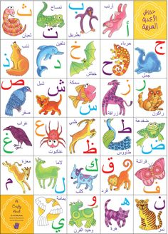 Koloud 'Kay' Tarapolsi is raising funds for Arabic Alphabet Fun Flashcards on Kickstarter! A Crafty Arab creates original products that are fun & colourful & is seeking funding to help print Arabic Alphabet Fun Flashcards! Arabic Alphabet Letters, Arabic Alphabet For Kids, Learn Arabic Online, Ramadan Crafts, Arabic Lessons, Arabic Language, Animal Posters, Learning Arabic, Kids Education