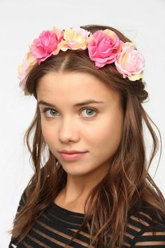Judah fell in love with this large flower crown headwrap  at Urban Outfitters.It was $20 and  I made it for under $2 !!