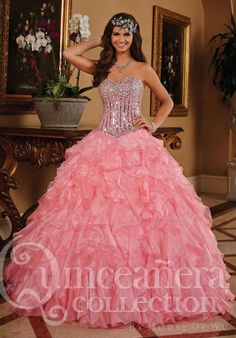MZ0926 The Most Beautiful 2014 Ball Gown Corset Bodice Sequined Rhinestones Modest Dresses for Quinceanera  $183.69