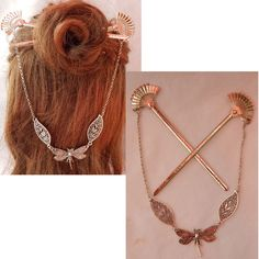 Whimsical Hair, Arrow Necklace, Gold Necklace, Dragonfly Jewelry, Hair Beads, Hair Sticks, Hair Jewelry, Hair Pins, Pendants