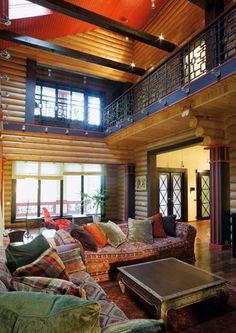 Роскошный дом из оцилиндрованного бревна