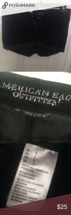 American eagle black Jean shorts American eagle black Jean shorts. Worn once. Good condition. American Eagle Outfitters Shorts Jean Shorts