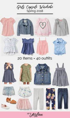 Capsule wardrobe for spring girls - Kids Fashion Cute Baby Boy Outfits, Toddler Boy Outfits, Little Girl Outfits, Little Girl Fashion, Toddler Fashion, Kids Outfits, Kids Fashion, Stylish Outfits, Toddler Dress