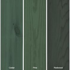 Mountain Spruce Semi-Transparent Waterproofing Exterior Wood Stain and - The Home Depot Exterior Color Schemes, Exterior Paint Colors, Exterior House Colors, Exterior Design, Green Wood Stain, Wood Stain Colors, Exterior Wood Stain, House Paint Exterior, Craftsman Bungalow Exterior