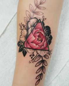 geometric peony tattoo                                                                                                                                                                                 More