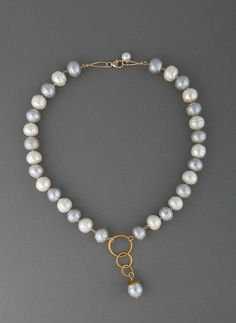CL-1 Olga KIng, Freshwater pearl and gemstone jewelry by Olga King at Palladio Antiques. www.thepalladiogroup.com
