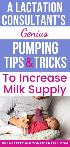 Pumping is an effective way to increase milk supply. An experienced lactation consultants shares 9 tips and tricks to get the best results. Pumping And Breastfeeding Schedule, Stopping Breastfeeding, Breastfeeding And Pumping, Baby Weaning, Led Weaning, How To Increase Breastmilk, Pumping Bag, Increase Milk Supply, Lactation Consultant