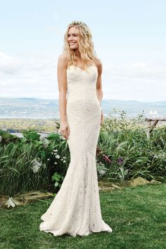 2500bd45861b Lillian West - Style 6425  Allover Lace Mermaid Gown with Sweetheart  Neckline Bohemian Wedding Dresses