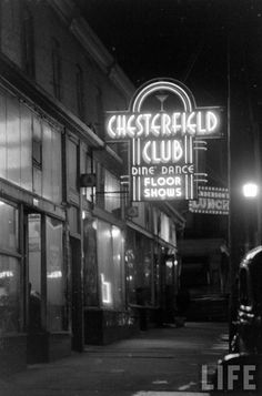 1938 - The notorious Chesterfield Club was a famous Pendergast sin place.  Located only one block from the federal courthouse downtown, it served as a daily reminder of who actually ran KC.  To judges and lawmen of the U.S., it seemed a deliberate affront to conventional morality.  Even though common practice for appearance sake called for confining gambling to back rooms, at the Chesterfield Club roulette wheels and dice tables greeted patrons the moment they walked through the front door.