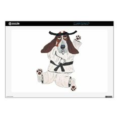 Basset Hound Black Belt Expert Decals For Laptops