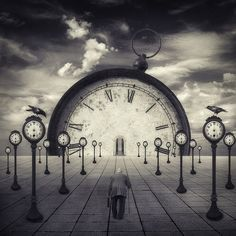 62 Ideas Art Surrealista Tiempo For 2019 Photo D Art, Clock Art, Time Art, Time Time, Surreal Art, Photo Manipulation, Dark Art, Black And White Photography, Fantasy Art