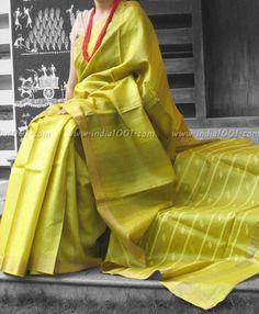 Elegant & Fine Tussar Silk Saree | India1001.com