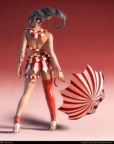 Candy Girl by Alex Huguet | 3D | CGSociety