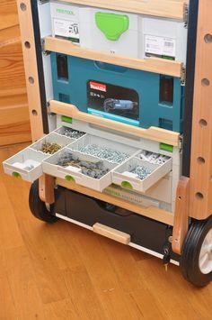 Мобильный верстак MFTC Workshop Storage, Diy Workshop, Garage Workshop, Tool Storage, Festool Tools, Festool Systainer, Tool Box Diy, Diy Tools, Woodworking Workshop