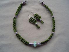 macrame-collana-verde-argentoni-e-pandora.jpg (1600×1200)