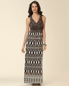 fcf3df9917bf Cross Strap Desire Maxi Dress Solstice Ikat Neutral from Soma Intimates on  Catalog Spree