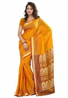 Fabdeal Indian Designer Cotton Yellow Plain Saree Fabdeal, http://www.amazon.de/dp/B00INWNOSC/ref=cm_sw_r_pi_dp_mg7otb1XVT31R